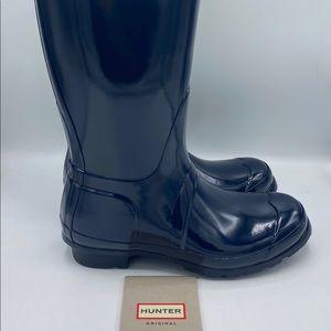 Hunter Women's Tall Original Gloss Rain Boots